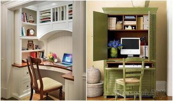Как обустроить домашний офис в шкафу: идеи создания скрытого рабочего места