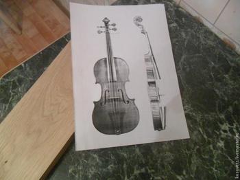 Как сделать шкатулку в форме скрипки