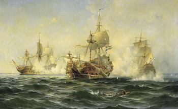 Первая победа корабельного флота России