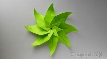 Оригами цветок из бумаги. Подарок и украшение на 8 марта, день влюбленных
