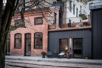 Квартира на месте бывшего магазина в Швеции (60 кв. м)