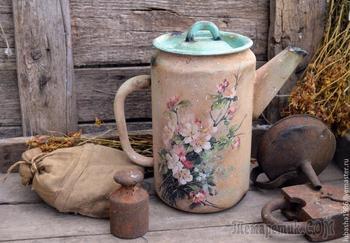 Декорируем чайник в стиле «Кантри»