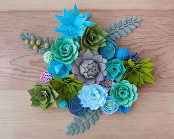 Цветы из фетра своими руками 15 мастер классов
