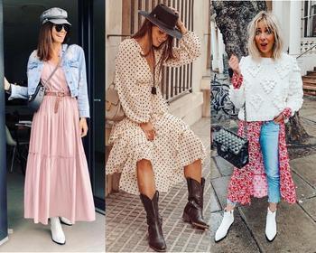 С чем носить кюлоты, казаки, ботфорты, кожаную юбку и белые ботинки? Удачные сочетания и образы