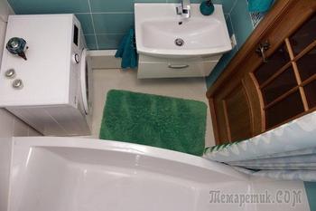 Ванная: бело-мятный интерьер