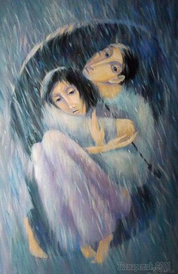 Назойливо в окно стучится дождь (Стих)