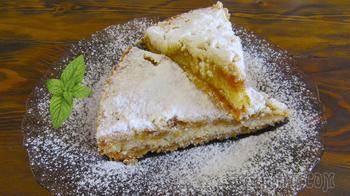 Насыпной яблочный пирог «3 стакана».