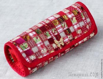 Шьём практичный текстильный пенал в технике лоскутной мозаики