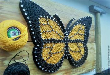 Создаем бабочку в стиле String Art