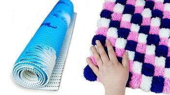 Креативное использование простого коврика для душа