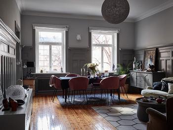Атмосферная квартира в старом доме в Стокгольме