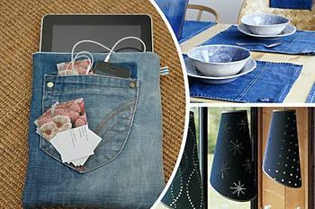 20 креативных и практичных идей из старых джинсов!