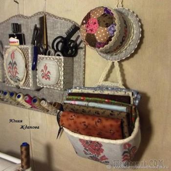 Создаем органайзер для рукодельницы. Два в одном: корзинка + игольница в славянском стиле