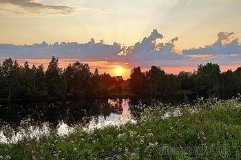 Белые ночи . Карелия. река Шуя