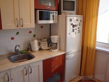 Девятиметровая кухня в стиле кантри