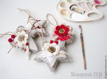 Делаем ёлочные игрушки в рустикальном стиле