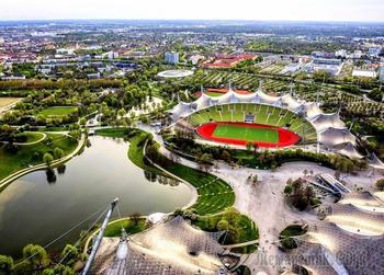 Баварская сказка 24. Мюнхен. Олимпия парк и  стадион Алианц Арена.