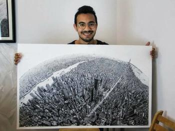 Google Maps своими руками: студент из Египта нарисовал каждое здание Нью-Йорка