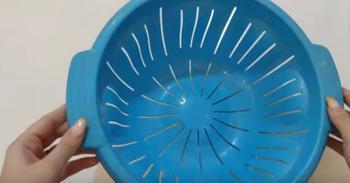 Что можно сделать из треснувшего пластикового дуршлага
