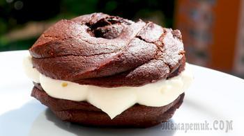 Пирожное шоколадные бомбочки за 7 минут