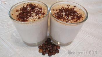 Шоколадно-кофейный десерт на агаре