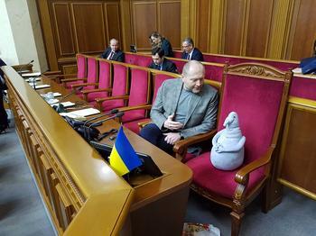 Депутат Верховной рады появился на заседании с Ждуном