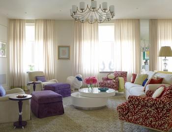 Ощущение солнца и радости в интерьере апартаментов в Москве