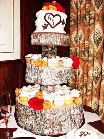 Подставка для торта своими руками из спилов дерева