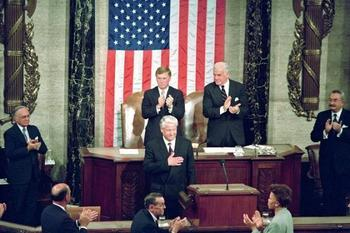 """Господи, благослови Америку!""; Рассекречена присяга Ельцина в конгрессе США"