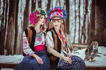 Польские красавицы в фотосессиях в славянском стиле от польского фотографа