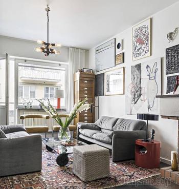 Уютная 4-х комнатная квартира в Стокгольме