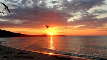 Болгарское побережье Черного моря 16. Комплекс «Албена». Красота неба, моря и земли