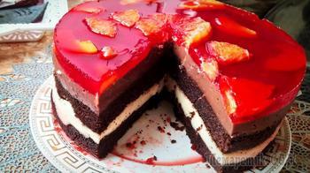 Торт из простых продуктов.