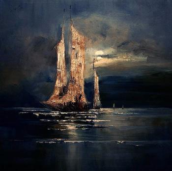 Владеет морем полная луна...Польская художница Юстина Копания