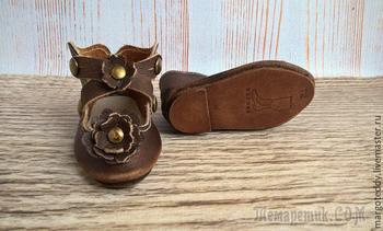 Мастер-класс по изготовлению кожаных туфель для антикварной куклы