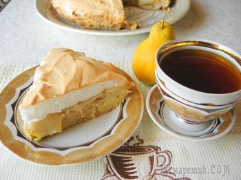 Рецепт грушевого пирога к чаю.