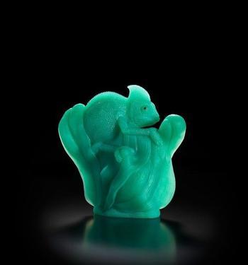 Скульптуры животных из драгоценных камней