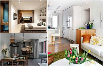 20 вдохновляющих идей, которые помогут превратить однокомнатную квартиру в уютное гнёздышко