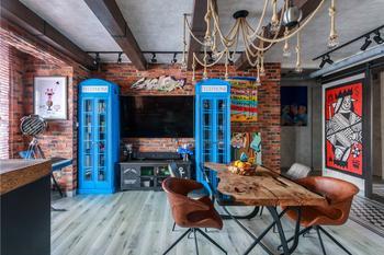 Квартира в стиле лофт с коллекцией современного искусства