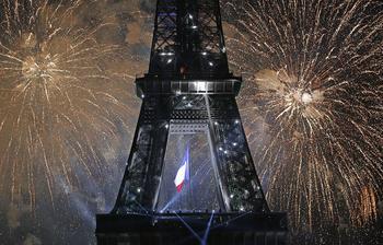 Париж с высоты птичьего полета