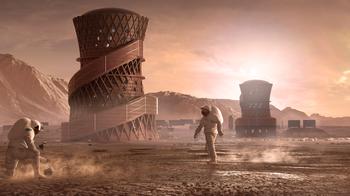 «На Марсе будут яблони цвести»: города Красной планеты