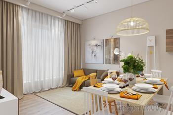 Стильное и смелое решение: секреты оформления гостиной в жёлтых тонах
