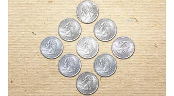 Логическая головоломка: Переместите 2 монеты так, чтобы получился треугольник