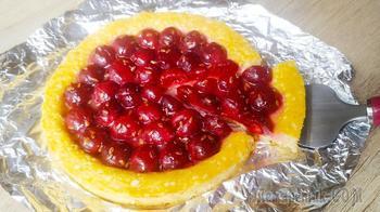 Вместо сырников на завтрак! Творожный пирог-сырник с вишней