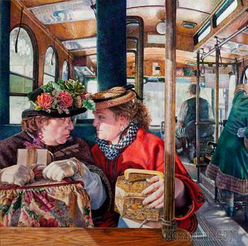 Иллюстратор Сьюзен Брабо. Удивительные, яркие мгновения из повседневной жизни обычных людей