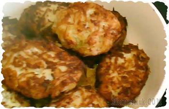 Котлеты картофельные с фаршем. Короткий фото-аудио рецепт