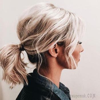 Хвост на средние волосы: 16 простых идей для преображения