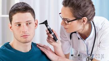 Лечение отита среднего уха у взрослых