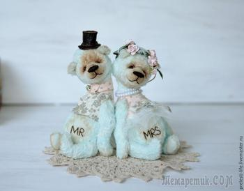 Шьем свадебную пару мишек «Вместе навсегда»