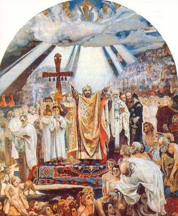Крещение Руси глазами живописцев
